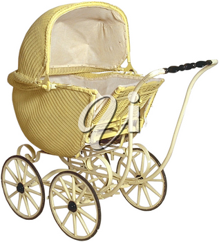 Royalty Free Photo of a Vintage Baby Buggy