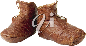 Royalty Free Photo of a Pair of Vintage Leather Shoes