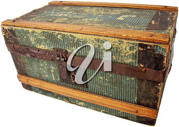 Royalty Free Photo of a Vintage Wooden Trunk
