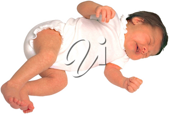 Royalty Free Photo of an Infant Crying