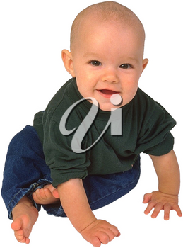 Royalty Free Photo of an Infant Child Sitting