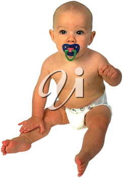 Royalty Free Photo of an Infant Child Sitting Up