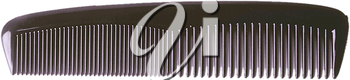 Royalty Free Photo of a Black Comb