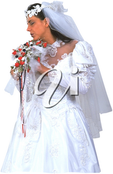 Royalty Free Photo of a Bride With Closed Eyes