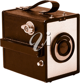 Royalty Free Photo of a Vintage Brown Camera