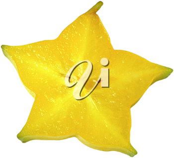 Royalty Free Photo of a Slice of Star Fruit