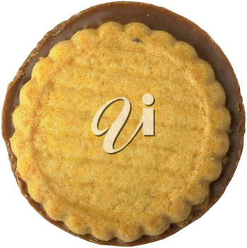 Royalty Free Photo of a Cookie with a Chocolate Base
