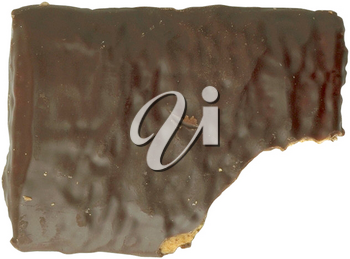 Royalty Free Photo of a Chocolate Cookie With a Bite out of the Corner