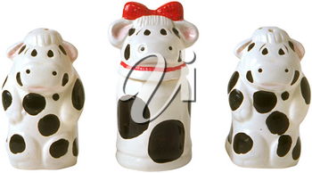 Royalty Free Photo of Ceramic Cow Salt and Pepper Shakers