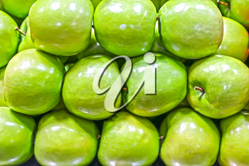 May Beautiful Organic Fresh Green Apples for Healthy Eating