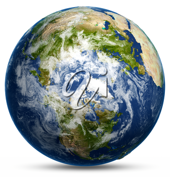 Earth globe map. Elements of this image furnished by NASA 3d rendering