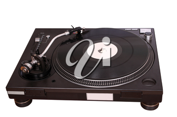 turntable isolated on white