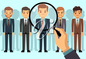 Employer of choice, candidate selection, employees group management business recruitment vector concept. Illustration of recruitment, choice and selection candidate