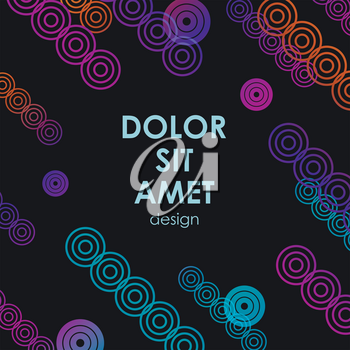 Vector colorful design for your idea. Dynamic circles.