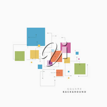 Square different topical colors. Beautiful vector design.