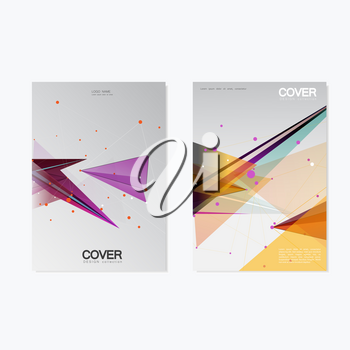 Business Cover Brochure Design / Vector Geometry Abstract Background.