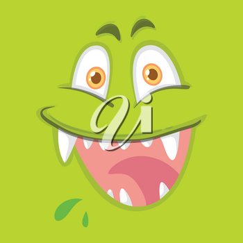 A happy monster face illustration
