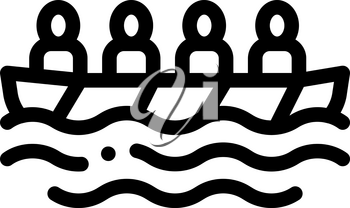 Academic Rowing Canoeing Icon Vector Thin Line. Contour Illustration