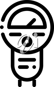 Parking Meter Icon Vector. Outline Parking Meter Sign. Isolated Contour Symbol Illustration