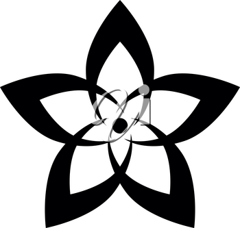 Flower it is the black color icon .