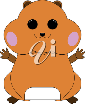 Hamster silhouette icon Illustration color fill simple style