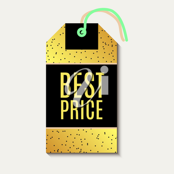 Tag sale, discount. With pinapple gold background. For advertising, business websites print