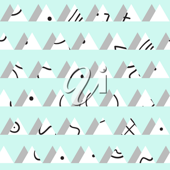 Seamless vintage abstract pattern with triangles in the style of 80 s. Fashion background in Memphis style.Texture for scrapbooking, wrapping paper, textiles, home decor, skins smartphones backgrounds cards, website, web page, textile wallpapers, surface design, fashion, wallpaper, pattern fills.