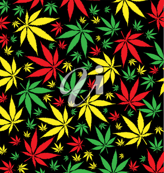 jamaican marijuana  pattern background