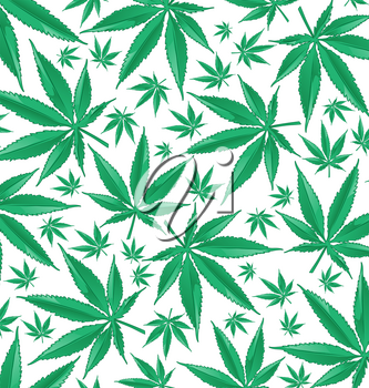 marijuana green pattern on white background