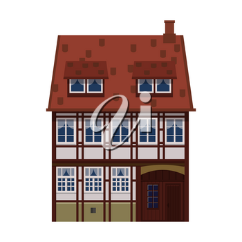 Old house, home, building facade Europe medieval tradition