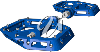 Blue colored cycle paddle Made up of fiber It rotate wheel of cycle with the help of gear and chain attached to it It facilitate cycle movement vector color drawing or illustration