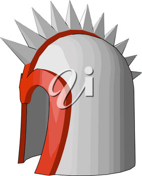 A defensive covering for the head old military equipment for protection from swords spears arrows vector color drawing or illustration