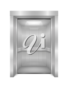 elevator modern office metal lift stock vector illustration isolated on white background