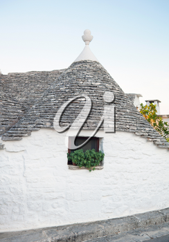 Trulli, the typical old houses in Alberobello in Puglia, Italy.