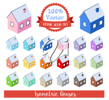A set of stickers for the planner diary printable house building