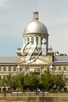 View of marche bonsecours in the old port in Montreal, Quebec